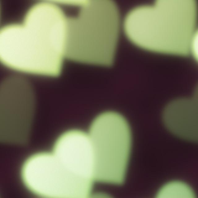 Bokeh hearts green, backgrounds textures.