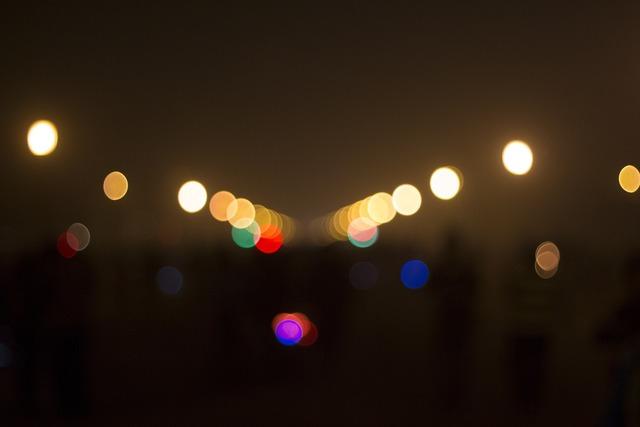 Bokeh lights night.