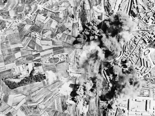 Bombing bomb destruction.