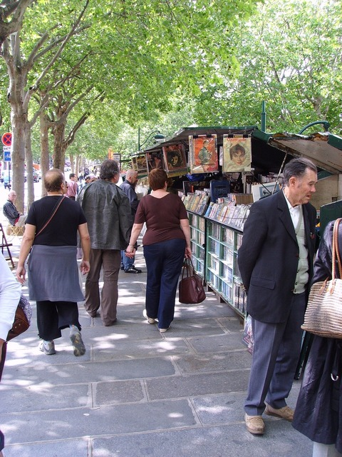 Book market paris bouquinistes, places monuments.