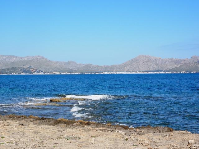 Booked mallorca bay of pollensa, travel vacation.