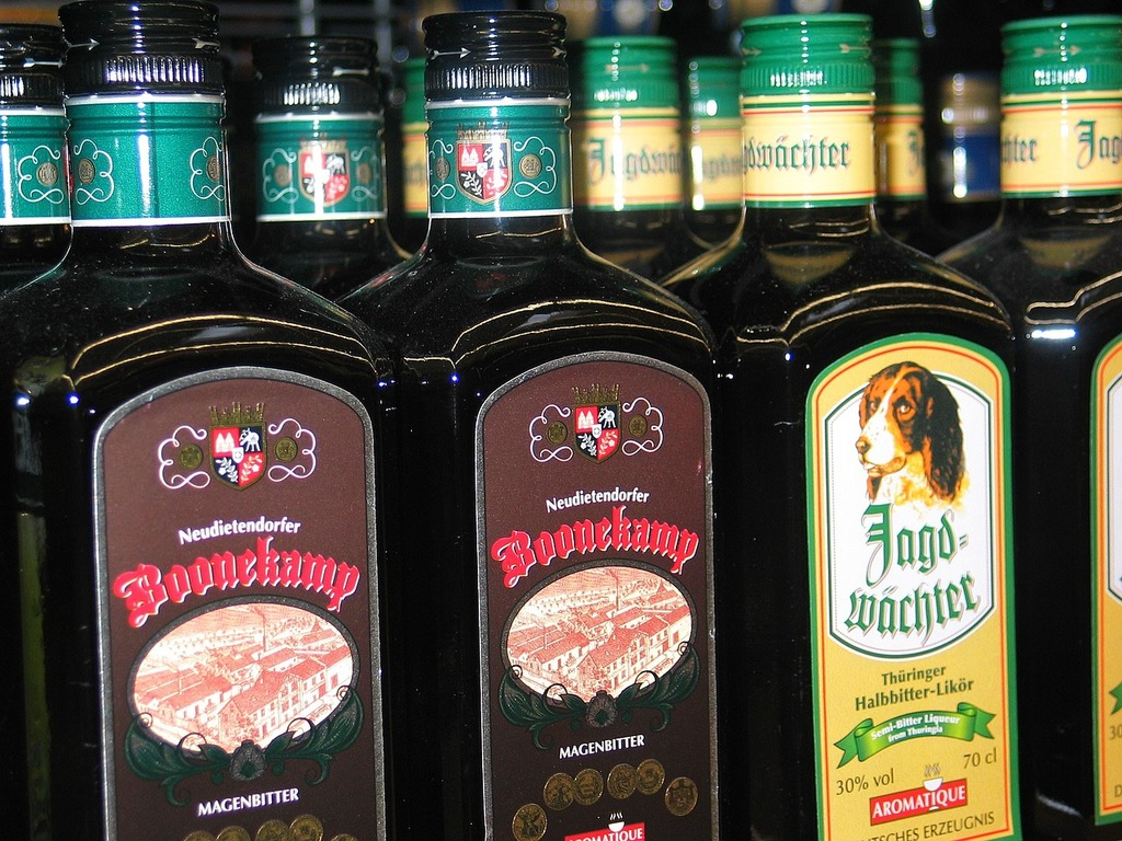 Boonekamp herbal liqueur alcohol, food drink.