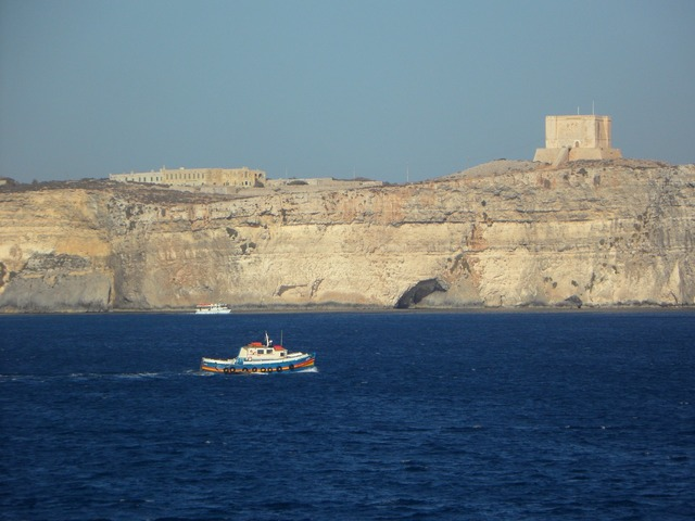Boot cliff mediterranean.