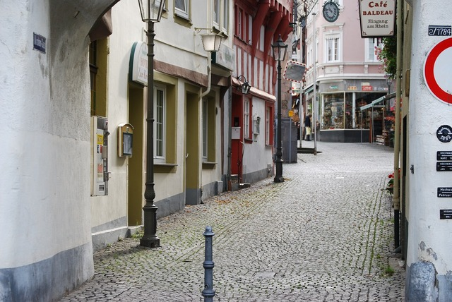 Boppard old town alley.