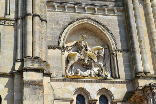 Bordeaux saint-georges facade, religion.