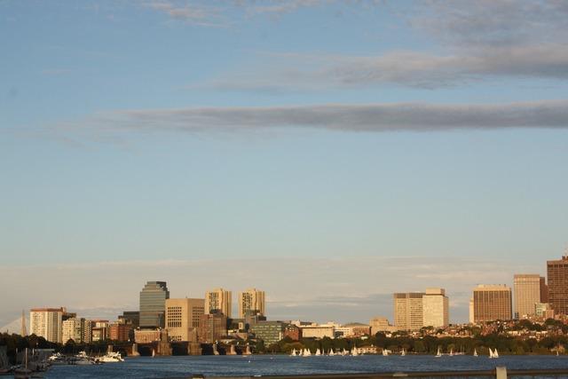 Boston bay skyline.