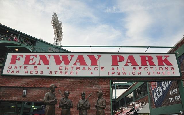 Boston massachusetts fenway park, sports.
