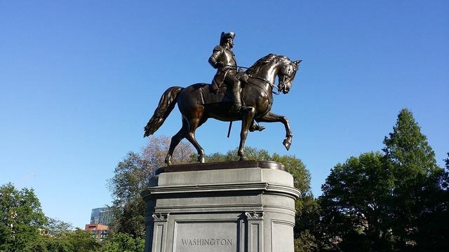 Boston washington statue, places monuments.