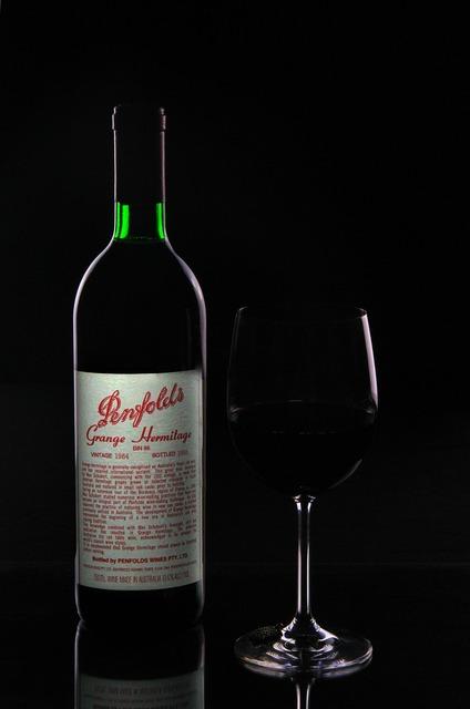 Bottle grange wine, food drink.