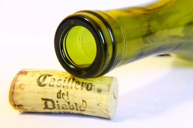 Bottleneck cork bottle.