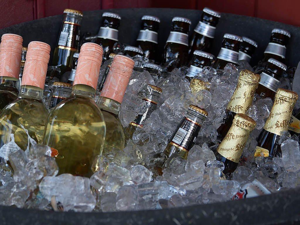 Bottles beer alcohol, food drink.