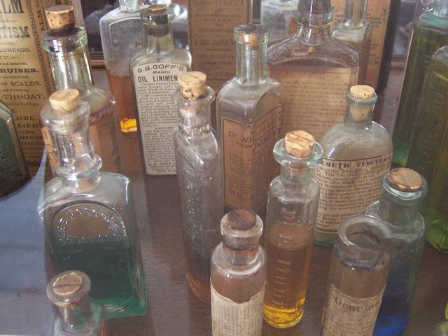 Bottles vintage pharmacy.
