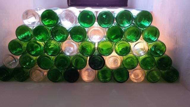 Bottles wine glass.