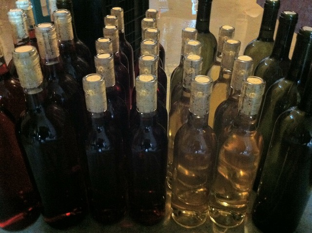 Bottles wine keller.