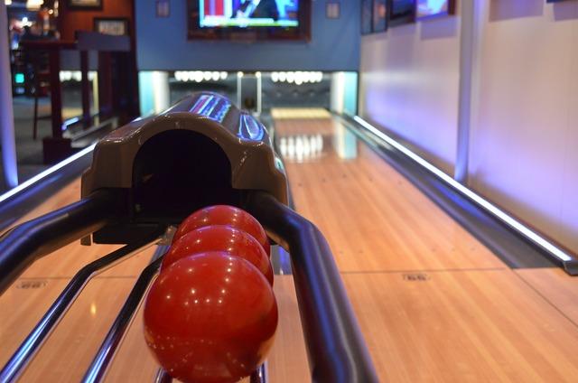 Bowling ball bowling alley, travel vacation.