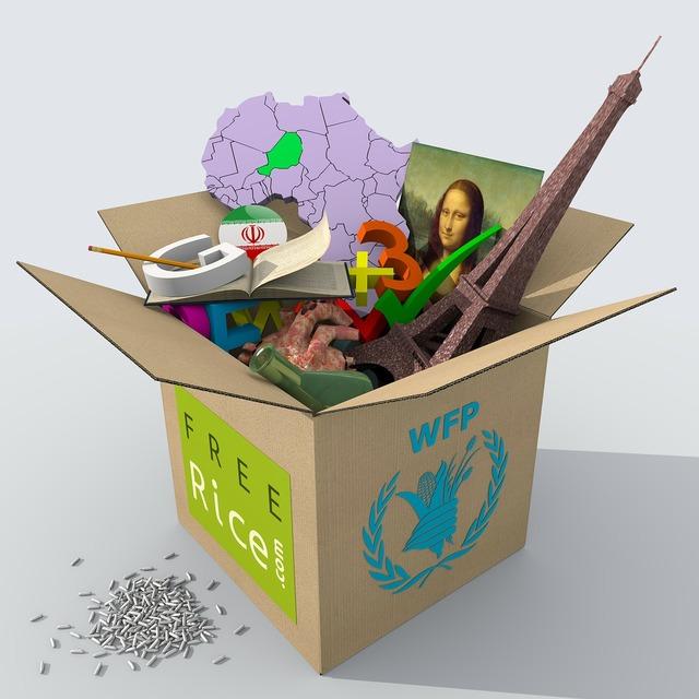 Box cardboard map, science technology.