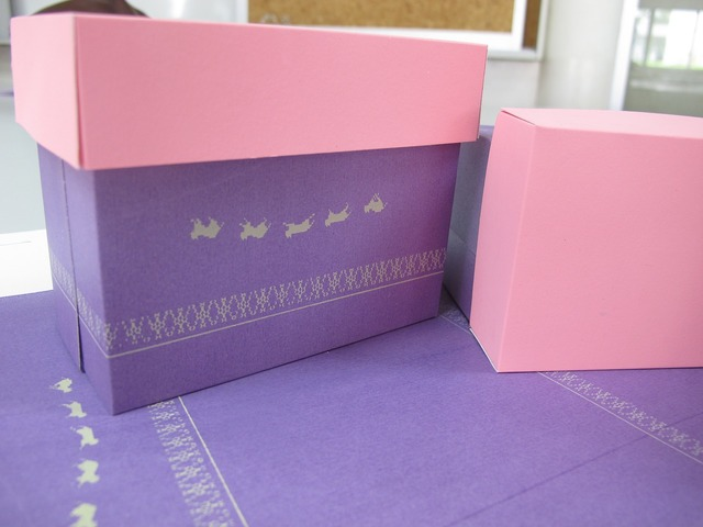 Box cat paper, animals.