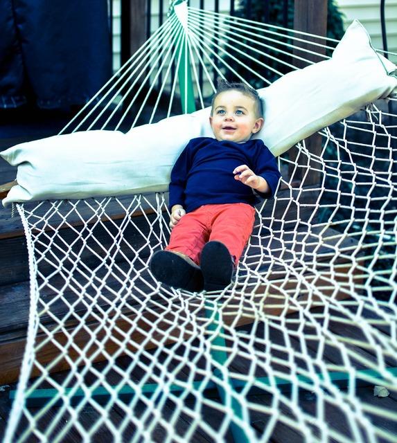 Boy hammock relax, people.