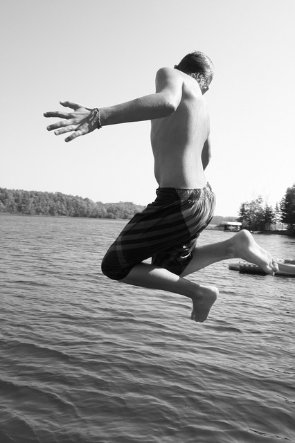 Boy jump kid, people.