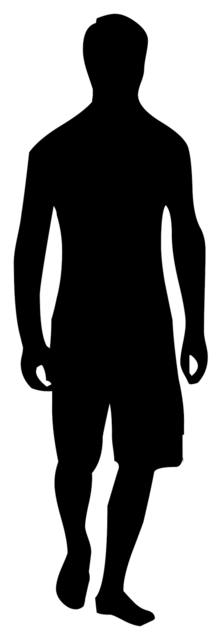 Boy man silhouette, people.