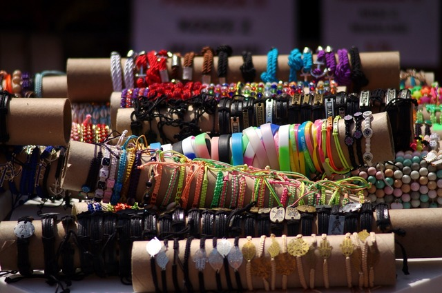 Bracelet colors booth.
