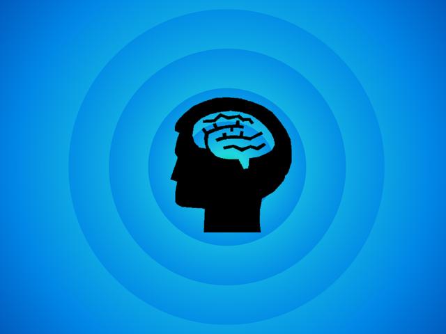 Brain thinking idea.