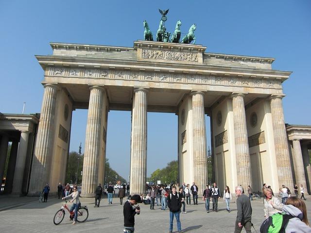 Brandenburg gate berlin quadriga, architecture buildings.