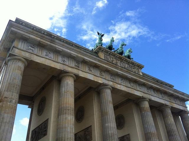 Brandenburg gate berlin quadriga, places monuments.