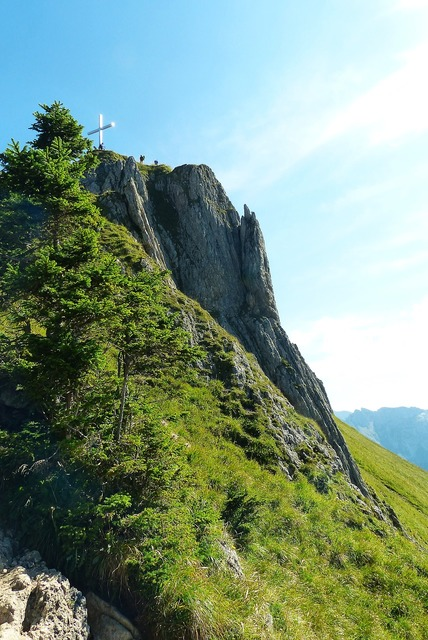 Branderschrofen 1880 m climbing, nature landscapes.