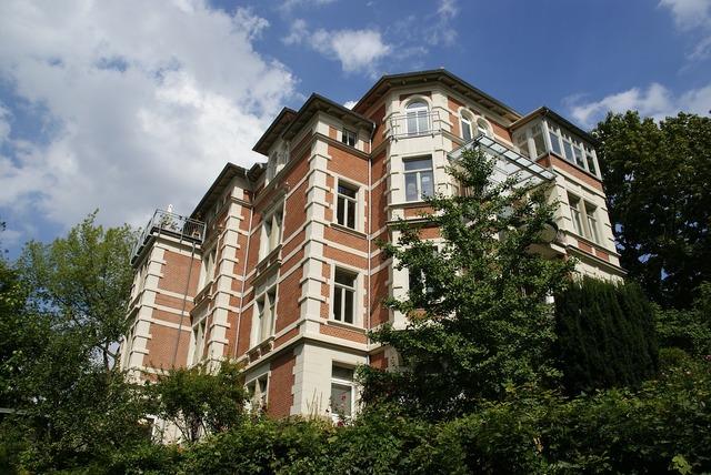 Braunschweig historically villa, architecture buildings.
