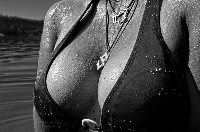 Breasts one curves, beauty fashion.