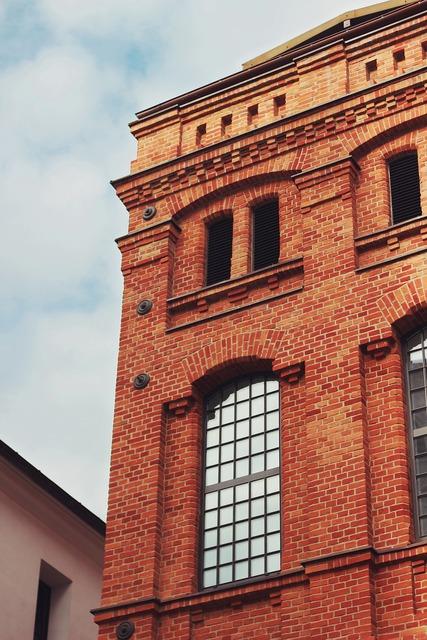 Brick building factory, architecture buildings.