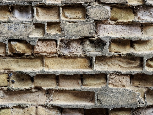 Brick erosion brickwork, architecture buildings.