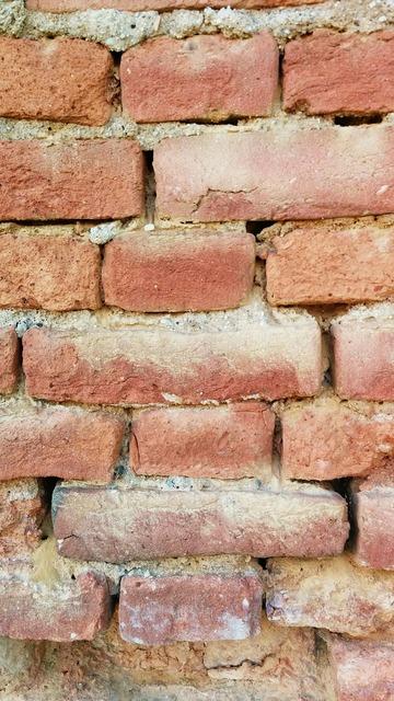 Brick mortar wall, backgrounds textures.