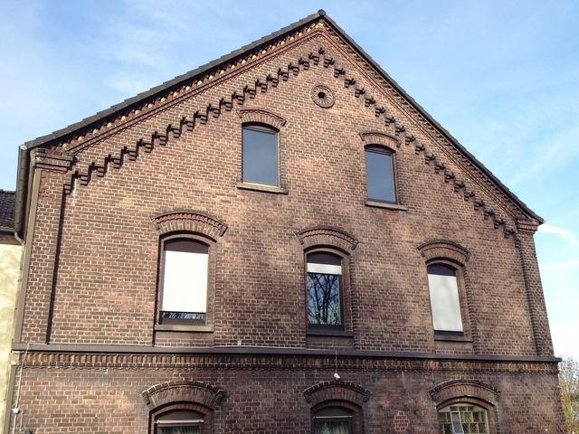 Bricks facade building, architecture buildings.