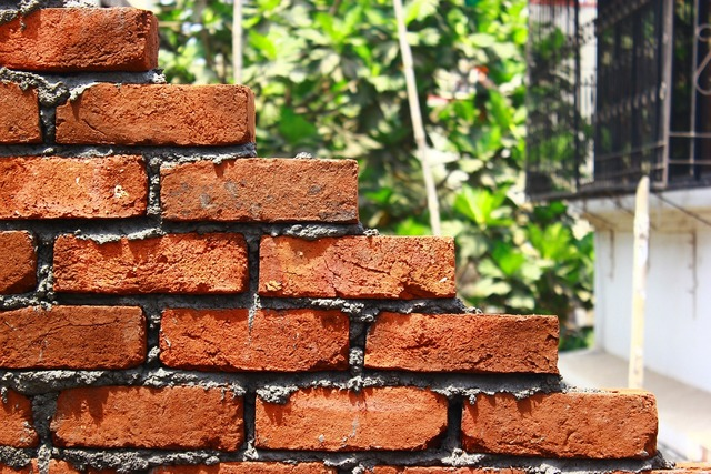 Bricks wall stacked, backgrounds textures.