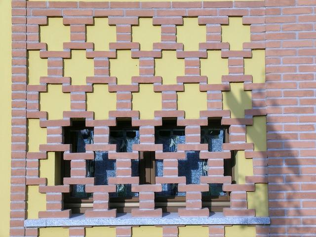 Bricks window building, architecture buildings.
