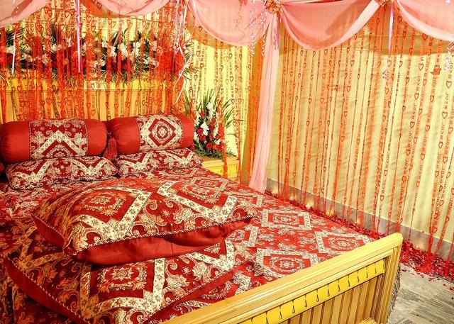 Bridal suite bedroom sleeping room.