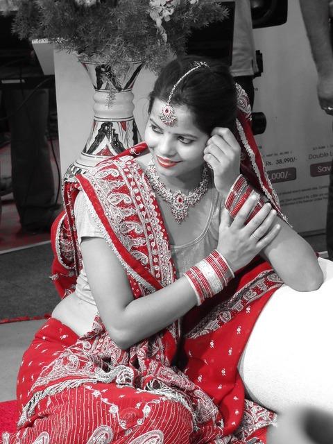 Bride indian bride traditional, people.