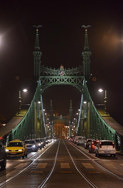 Bridge budapest hungary, architecture buildings.
