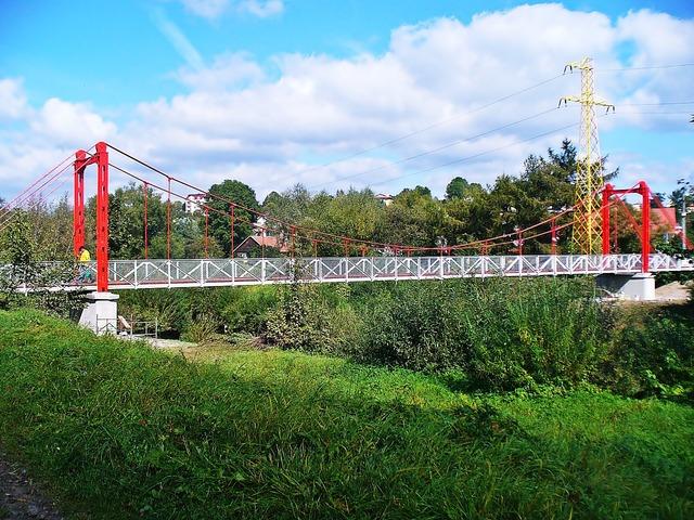 Bridge building steel frame, architecture buildings.