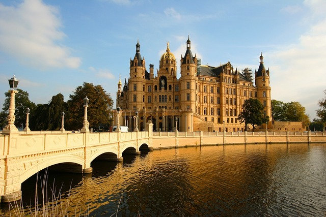 Bridge castle schwerin.