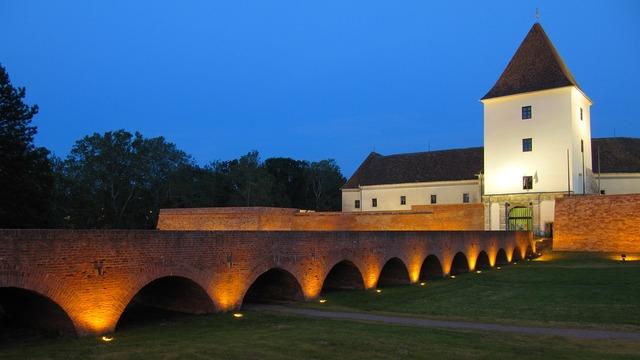 Bridge castle tower.