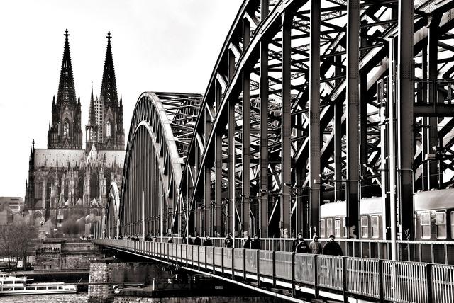 Bridge cologne hohenzollern bridge.