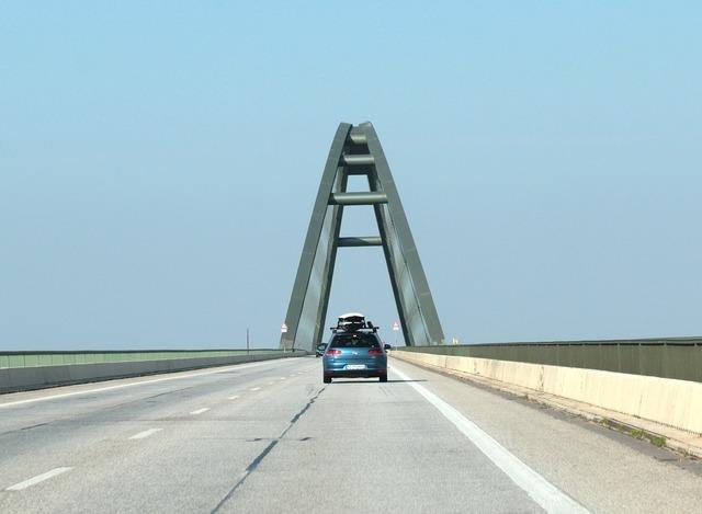 Bridge femarn sund bridge connection, transportation traffic.