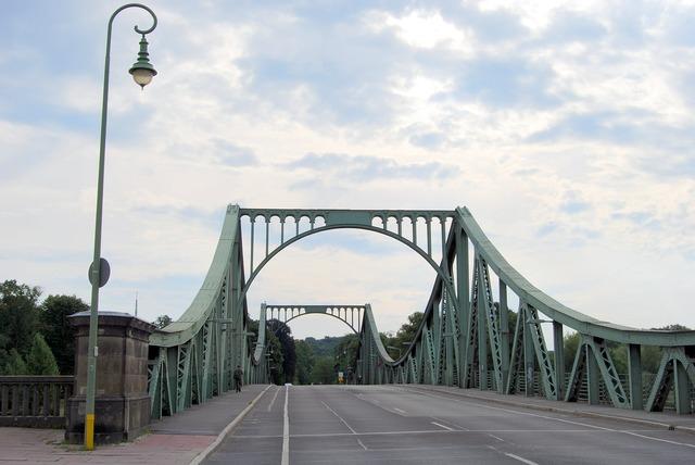 Bridge glienicke road, transportation traffic.