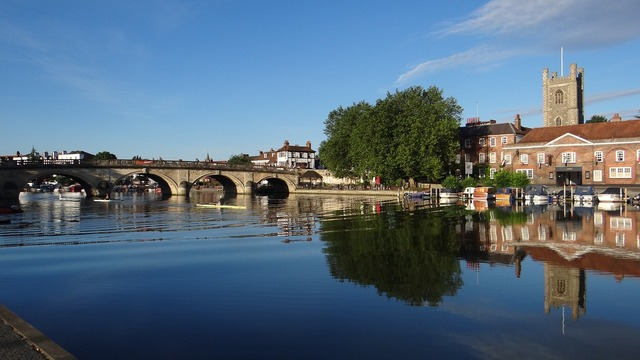 Bridge henley bridge thames river, places monuments.