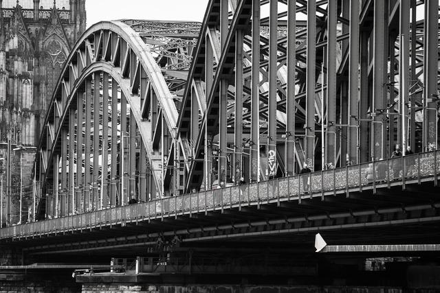 Bridge hohenzollern bridge metal, architecture buildings.