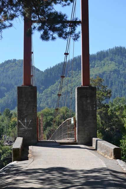 Bridge input columns, architecture buildings.