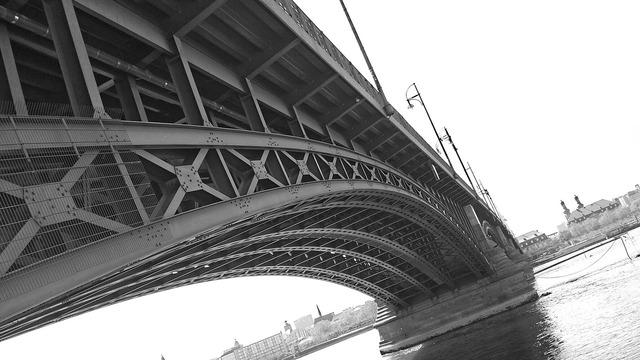 Bridge mainz steel bridge, architecture buildings.